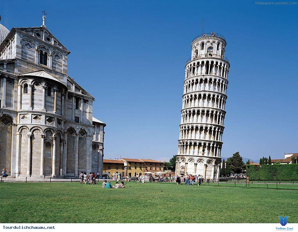 Tháp nghiêng Pisa,thap nghieng pisa